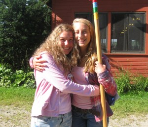 My friend and I parting ways after attending a yearly Christian summer camp in Massachusetts. August 2013.