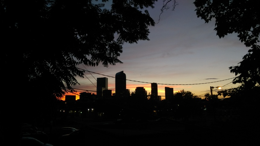 Denver skyline at sunset. The city. PC: Katelyn Skye Bennett