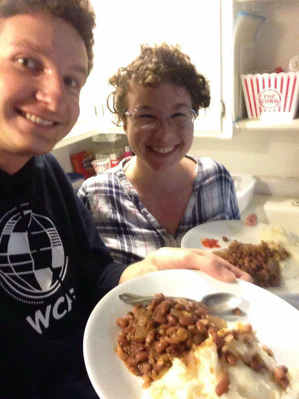 African food and friends: beans made Angolan style, foufou, pilipili PC: KSB