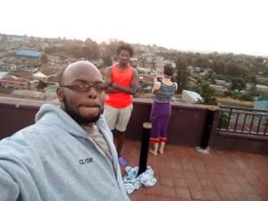 Waithaka sunset with the guys. PC: Wainana Leon Kinuhtia