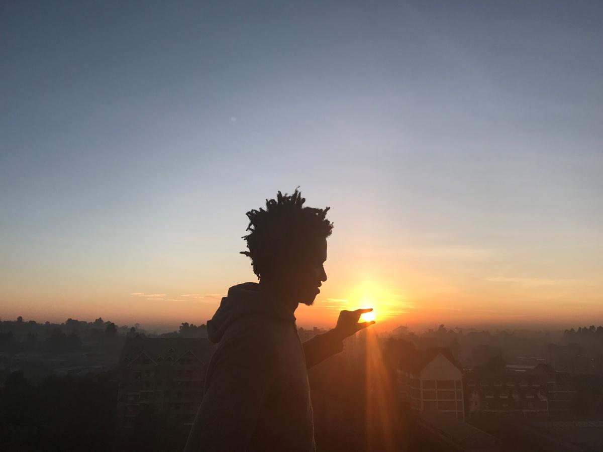 Kamau at sunrise. PC: KSB