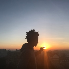 Kamau at sunrise. PC: KSB