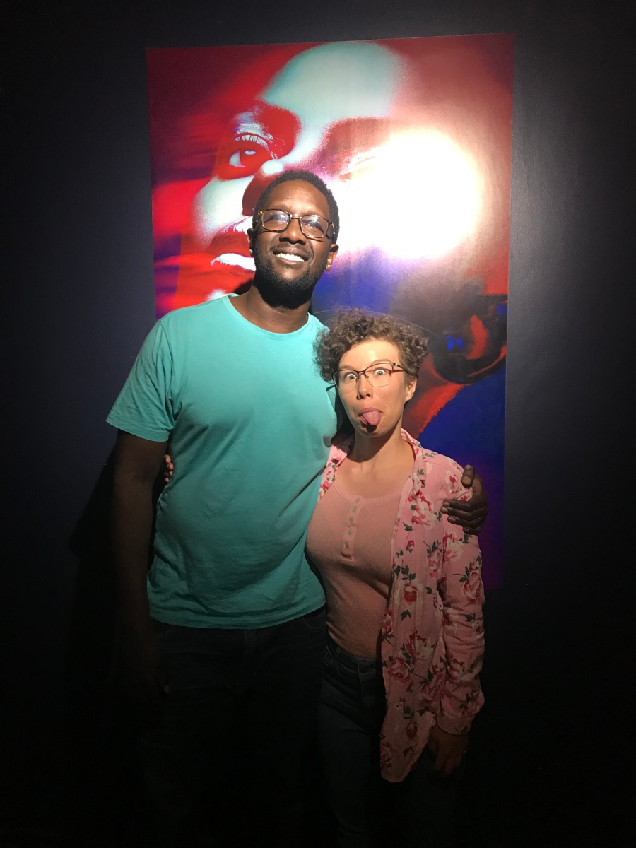 """Tetu Shani, one of my favorite artists! I performed """"Chemistry"""" with him! Thanks @Kairo for taking this shot on my phone."""